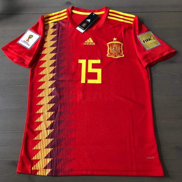 760456f66cb adidas Shirts | Spain Ramos 15 Soccer Jersey Men | Poshmark